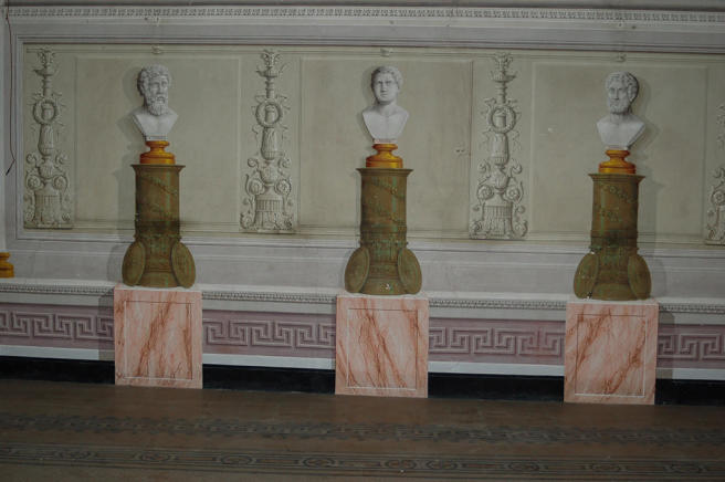 Frescoed busts