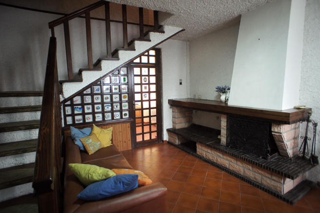 Living room & stairs