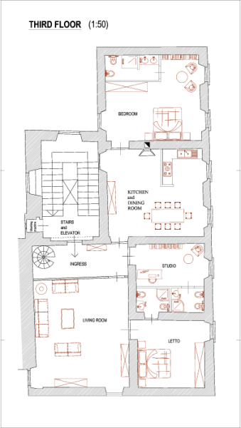 Foorplan 3rd floor