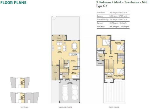 3 bedroom- Type C+