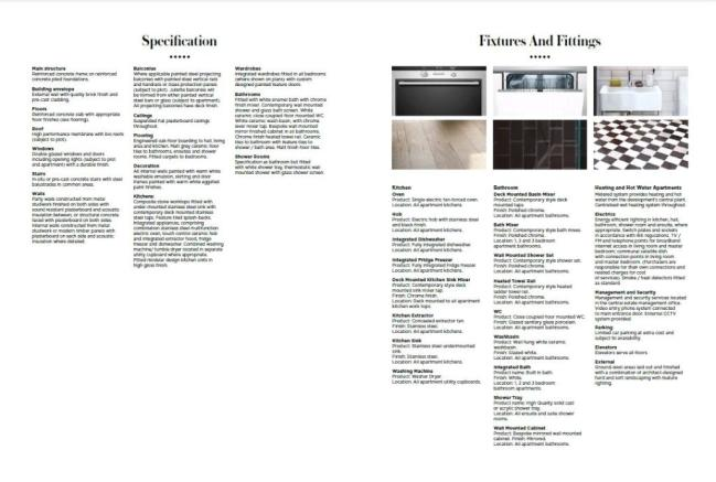 Specification List
