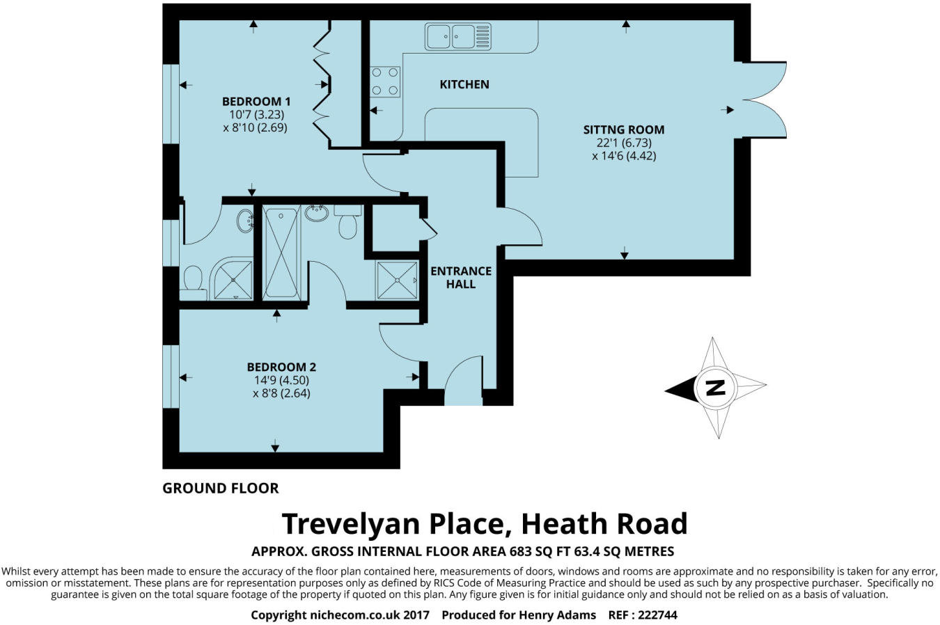 2 bedroom flat for sale in Trevelyan Place, Heath Road, Haywards ...