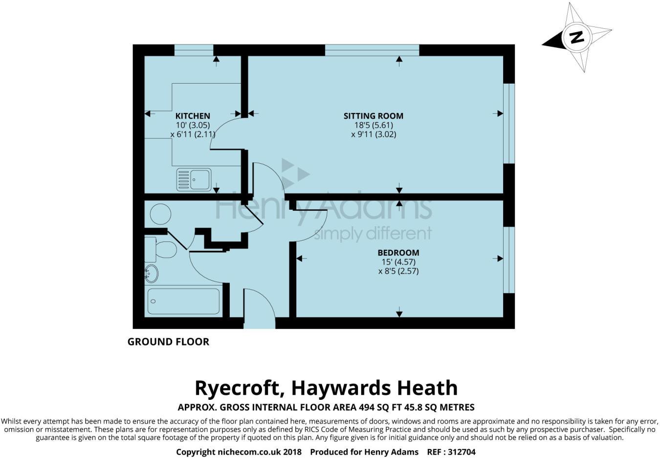1 bedroom flat for sale in Ryecroft, Haywards Heath, RH16, RH16