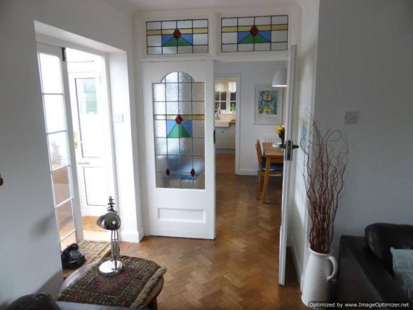 Glass doors between Lounge and Dining Room