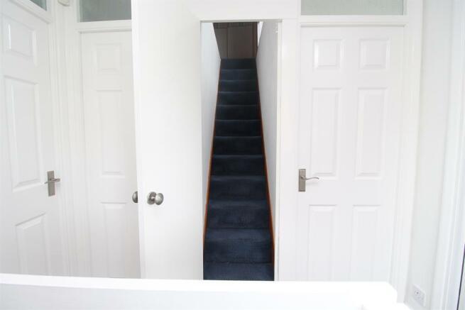 Stairs Rising to Loft Storage Room