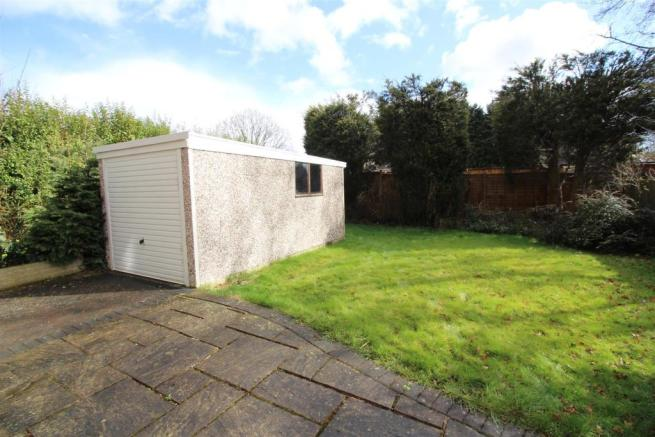 Garage and rear garden