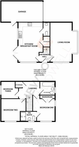 North Brook Close, Greetham - Floorplan