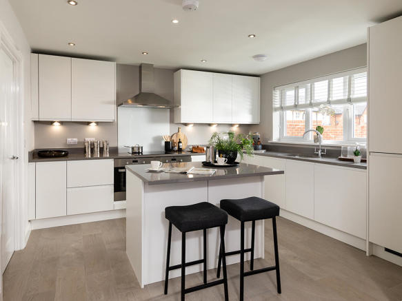Representation of a Story Homes integrated fitted kitchen