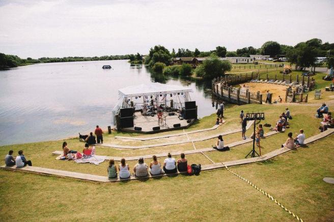 Outdoor stage ...