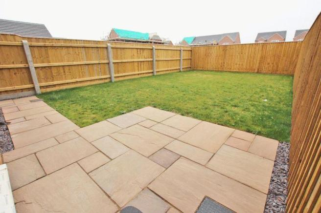 Patio and rear...