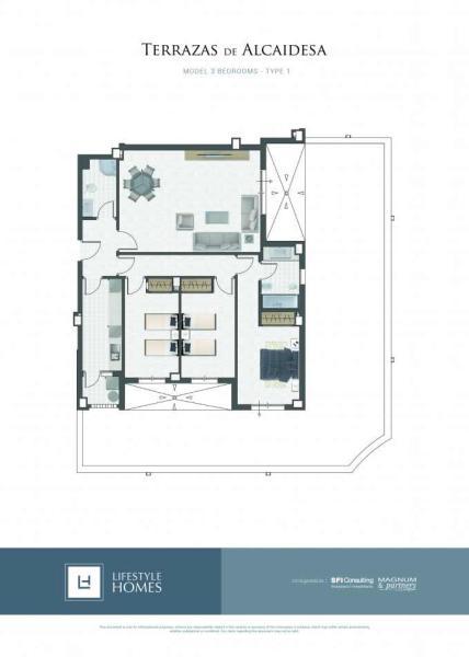 3 bedrooms - type 1