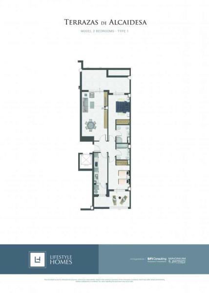 2 bedrooms - type 1