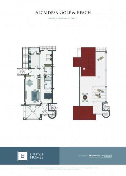 1st floor 2 bed.
