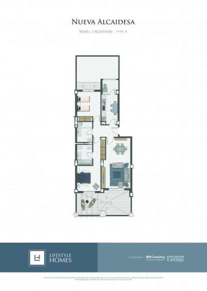 2 bedrooms type 4