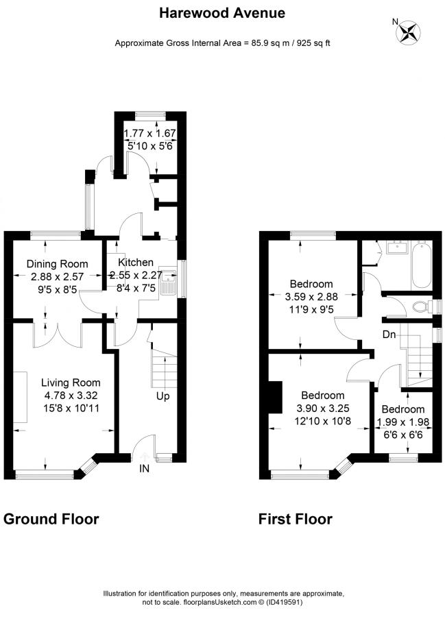 3 bedroom semidetached house for sale in Harewood Avenue Blackpool – Harewood House Floor Plan