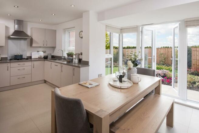 Open-plan dining kitchen