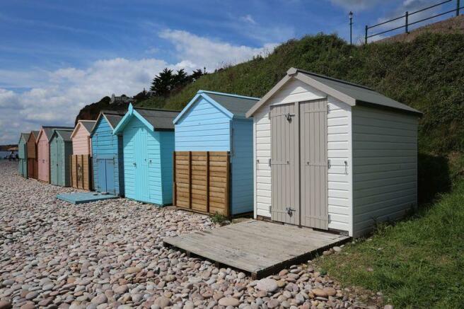 Beach huts nearby