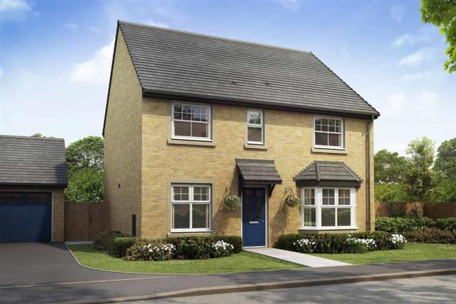 Artist impression of The Shelford (Buff Brick) at Tootle Green