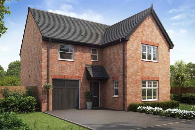 Artist impression of The Evesham (Red Brick) at Tootle Green