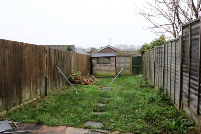 Rear garden, patio a