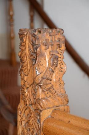 Carving on staircase