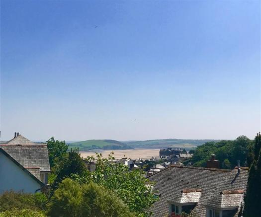 View to Camel Estuary from balcony