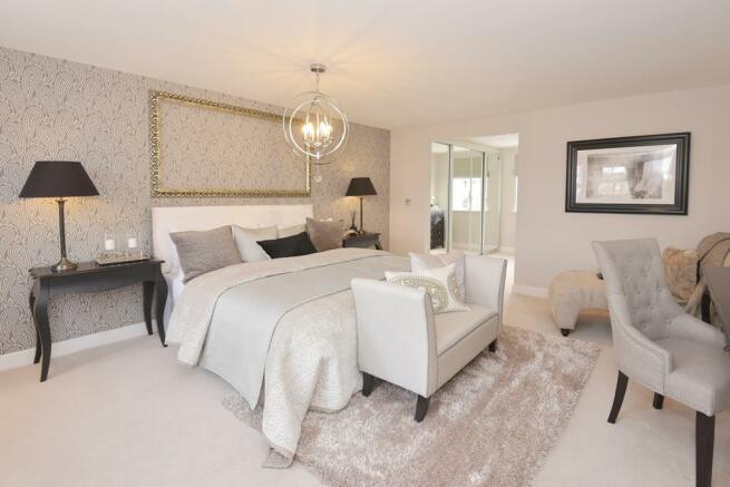 Poets Meadow Lichfield Show Home Master Bedroom