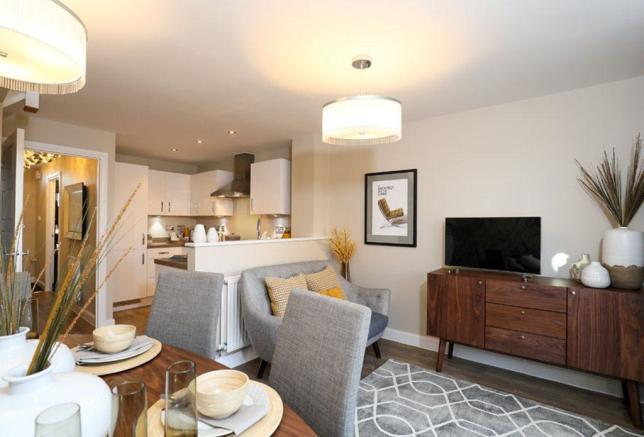 Rochester Show Home dining/family area