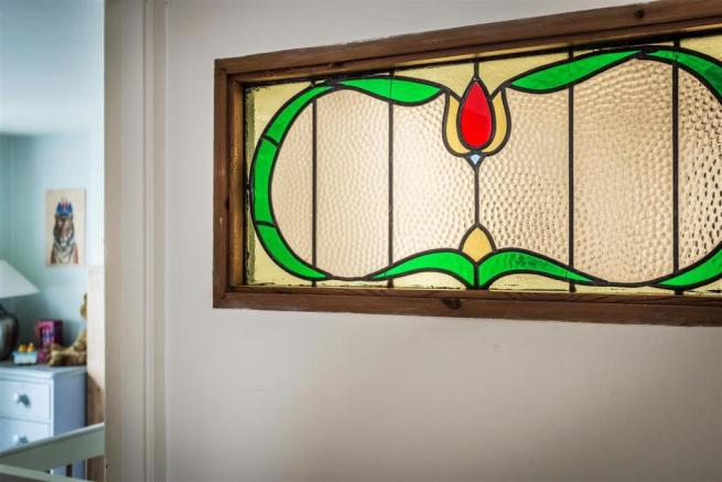 house. estate agency Milford stained glass
