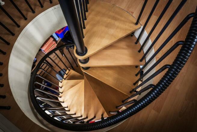 house. estate agency Ellens Green spiral staircaas