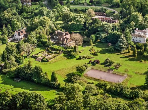house. estate agency Leatherhead aerial view