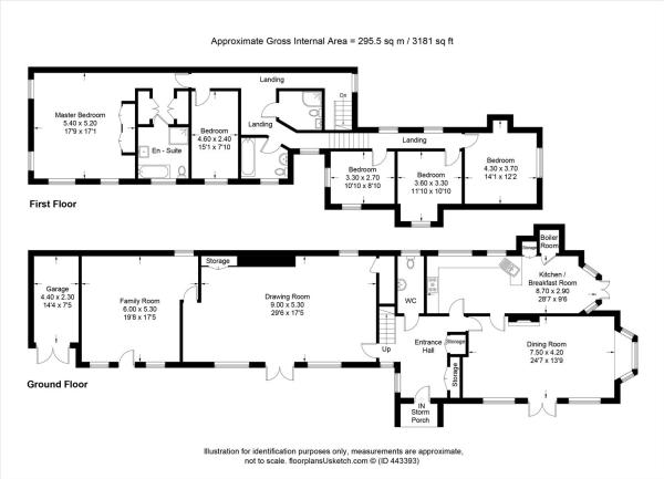 house. estate agency Esher Lammas Lodge Floor Plan