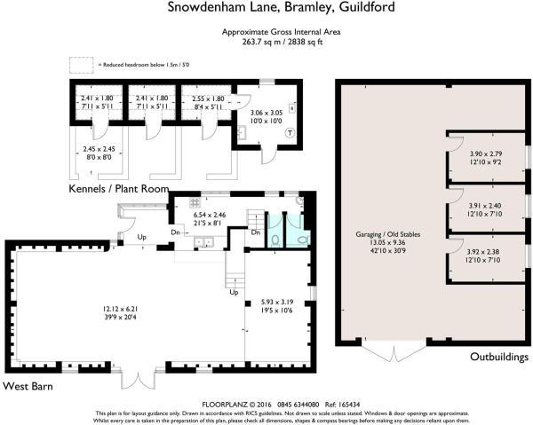 house estate agency Bramley Outbuildings Floor Pla