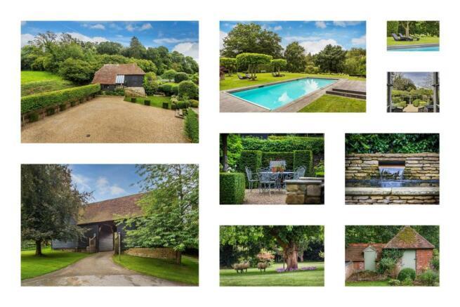 house. estate agency Bramley barns, gardens and po