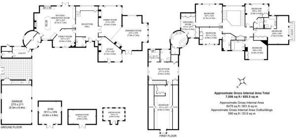 house. estate agency Cobham Oaklands Floor Plans