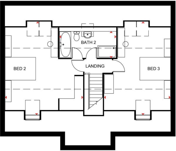 The Lichfield second floor plan