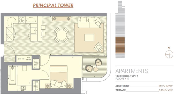 1 bedroom apartment for sale in Prinl Tower, Worship Lane ... on