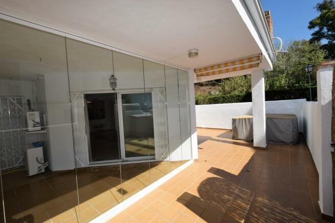 Terrace and glass cu
