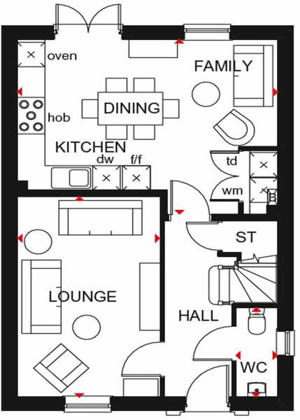 Ingleby GF floor plan