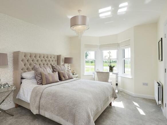 Master bedroom with en-suite and bay window