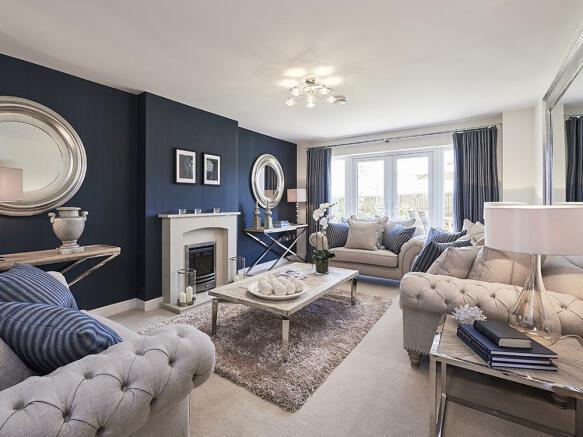 Spacious lounge with bi fold doors