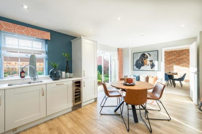 Buckingham open-plan kitchen with family/breakfast areas