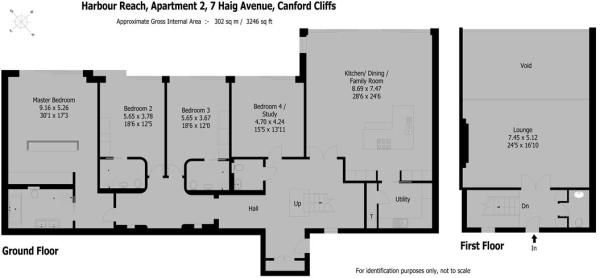 Apt 2 Harbour Reach - Floorplan