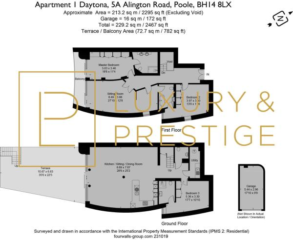 Apt 1 Daytona - Floorplan