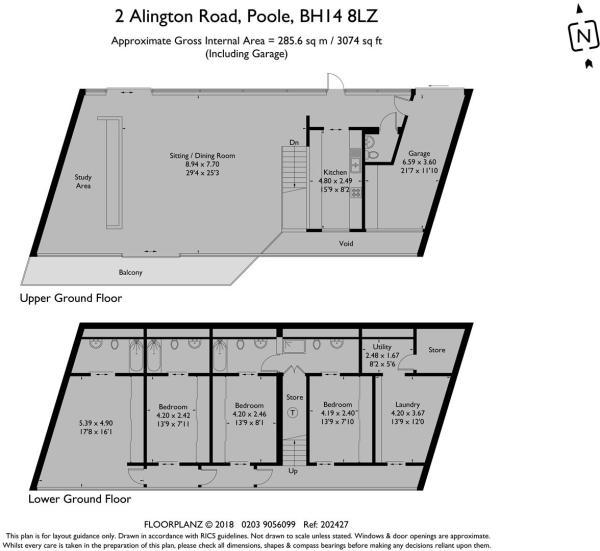 2 Alington Road - Floorplan