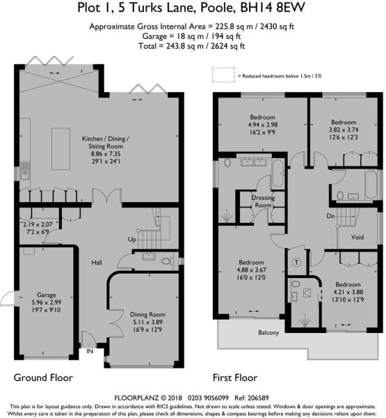 5 Turks Lane Plot 1 - Floorplan