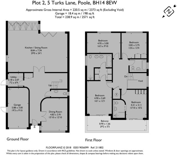 5 Turks Lane, House 2 - Floorplan