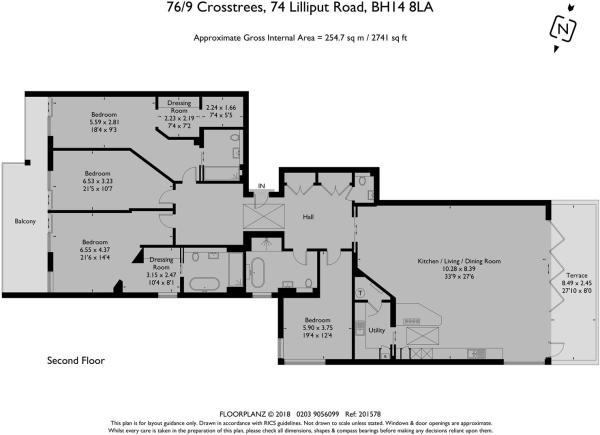 Penthouse 9, 76 Crosstrees - Floorplan