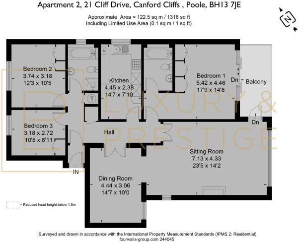 Apt 2 Mont Calm, 21 Cliff Drive - Floorplan