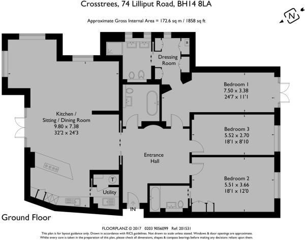 Crosstrees 74/1 - Floorplan